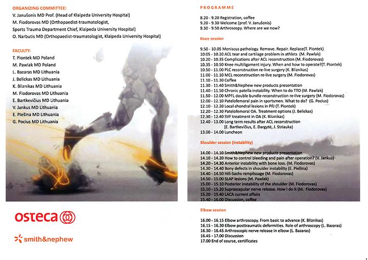 2015 artroskopijos kursaKlaipėda-2